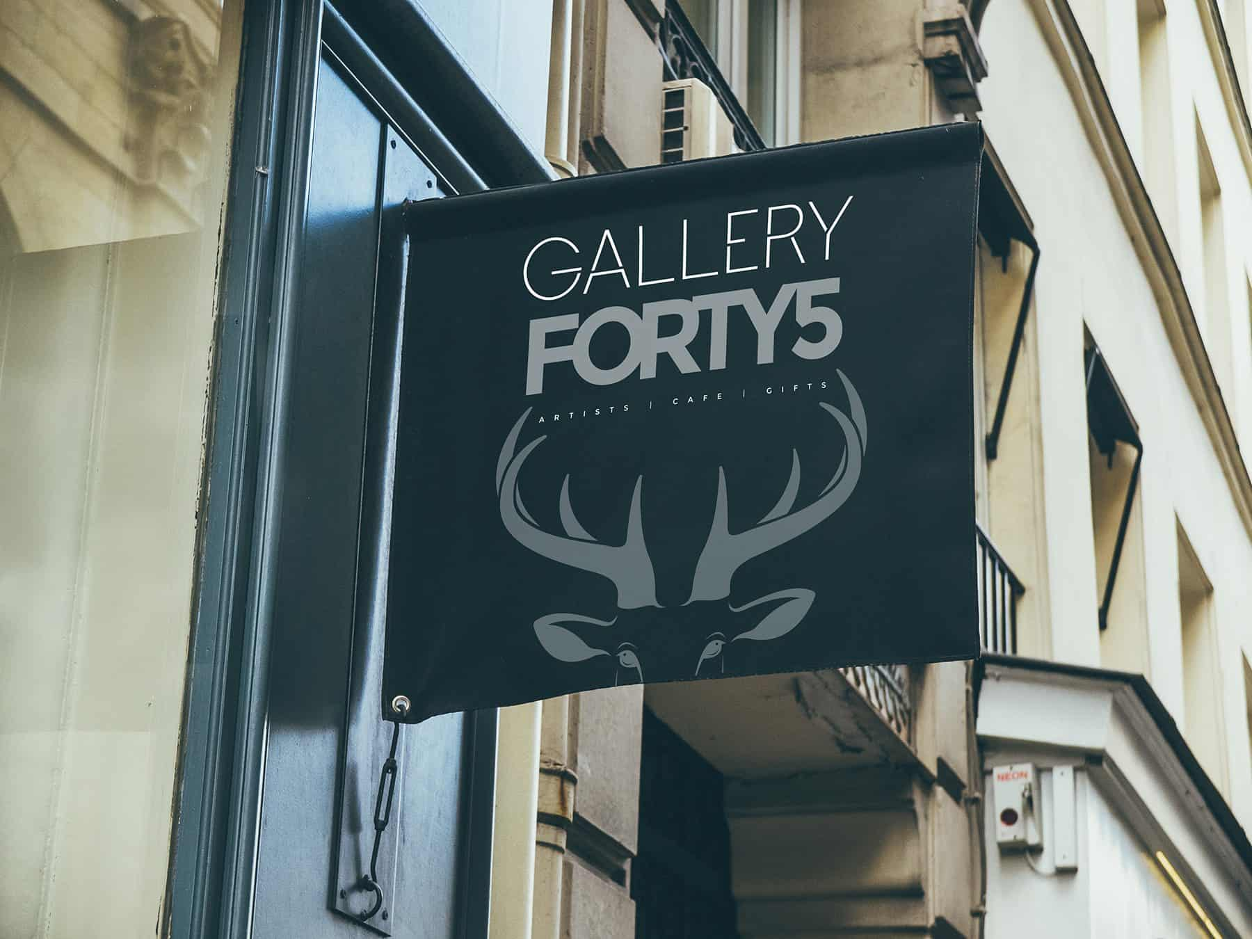 Gallery 45 Sign