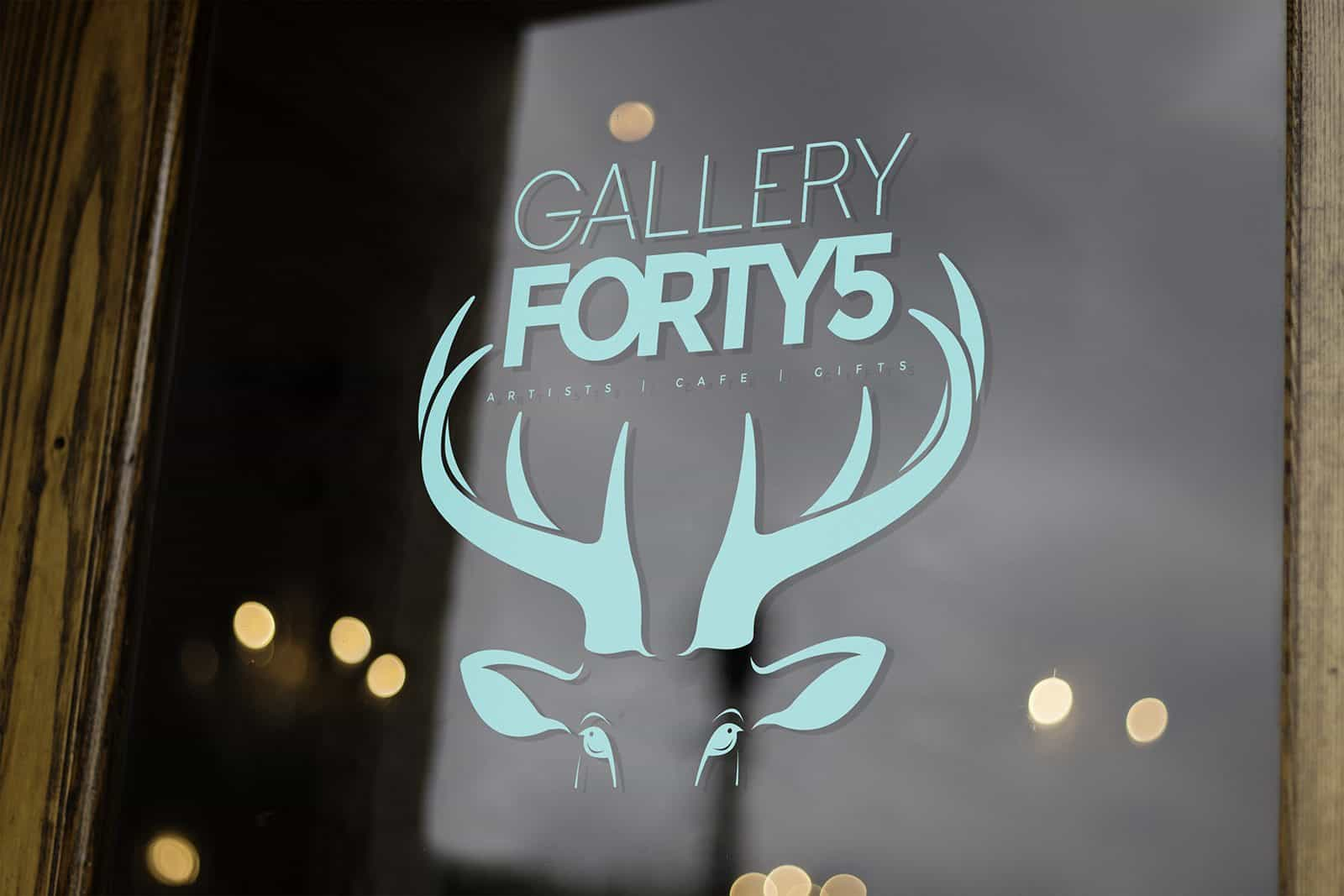 Gallery 45 window